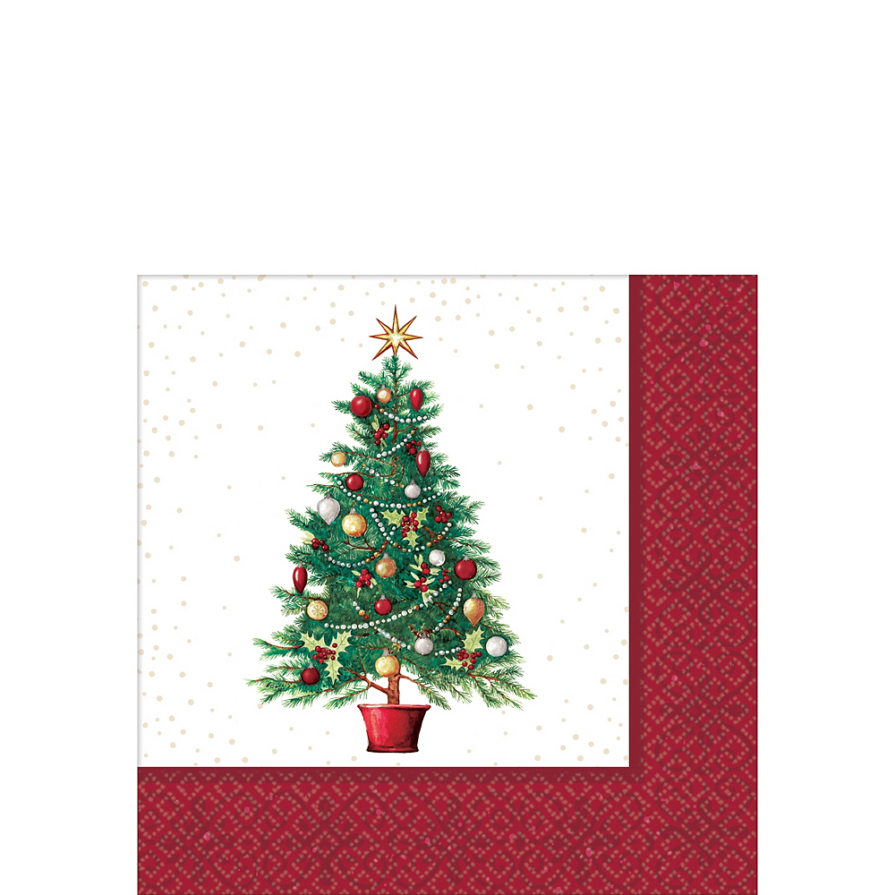 Big Party Pack Oh Christmas Tree Beverage Napkins 125ct Image #1