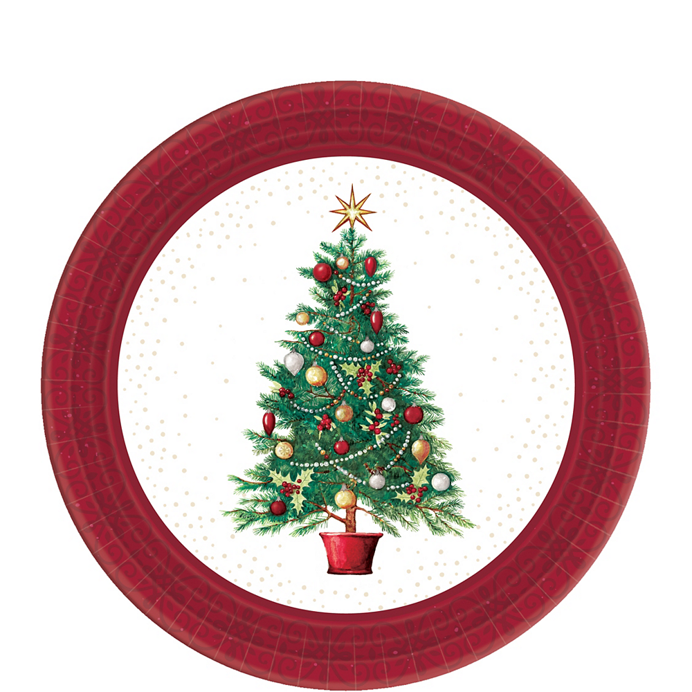 Big Party Pack Oh Christmas Tree Dessert Plates 60ct Party City