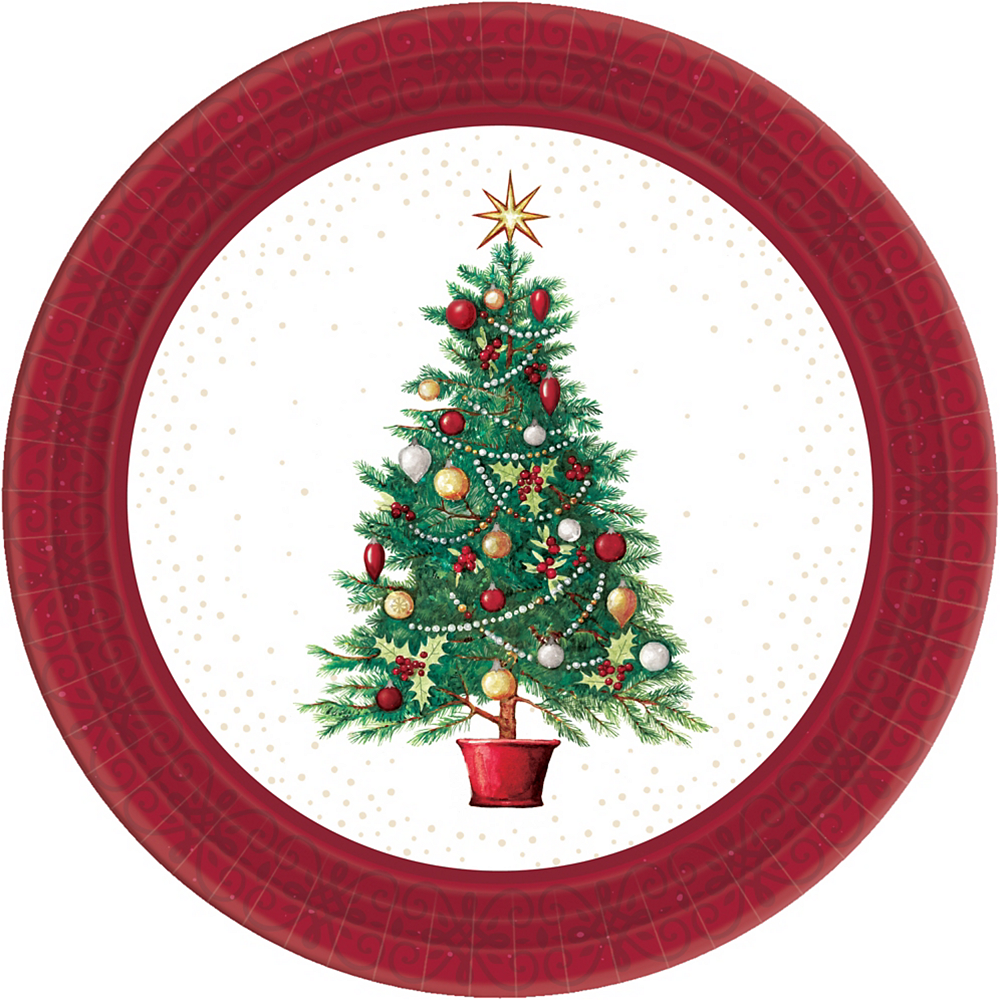 Big Party Pack Oh Christmas Tree Lunch Plates 60ct Image #1