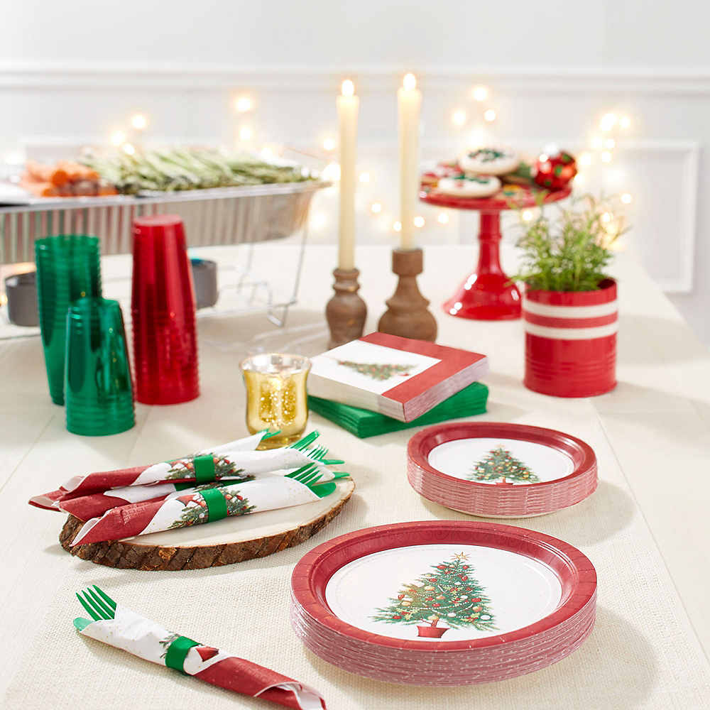 Big Party Pack Oh Christmas Tree Lunch Plates 60ct Image #2
