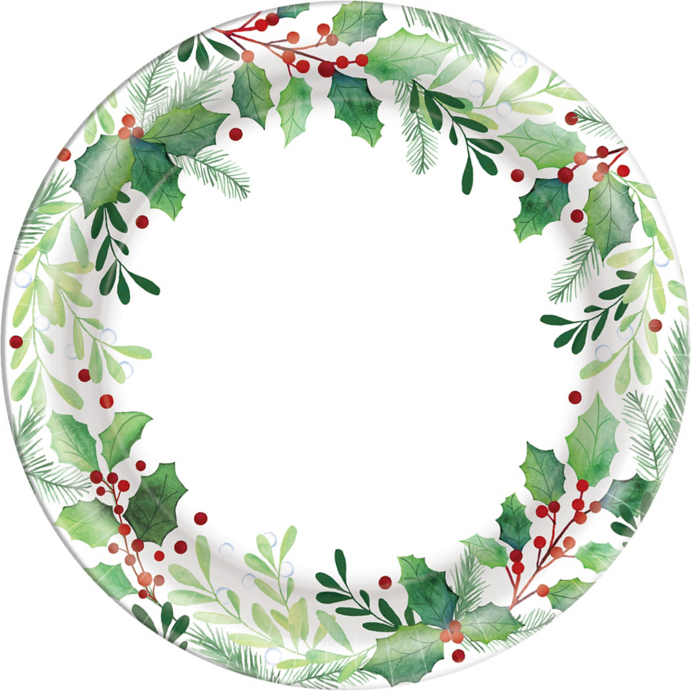 Traditional Holly Dinner Plates 40ct Image #1