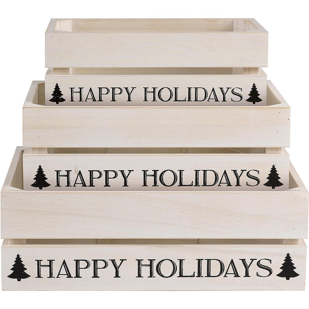 Medium Wooden Christmas Crate Image #1