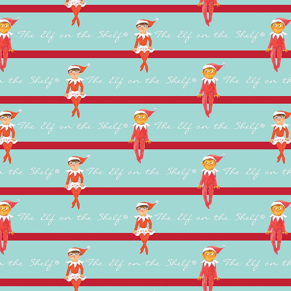 Striped Elf on the Shelf Gift Wrap Image #1