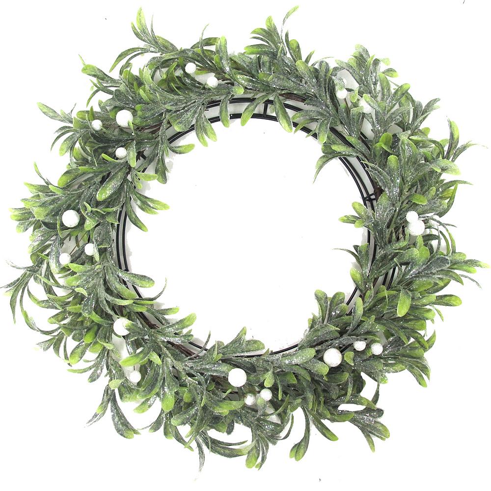 Glitter Mistletoe Wreath Image #1