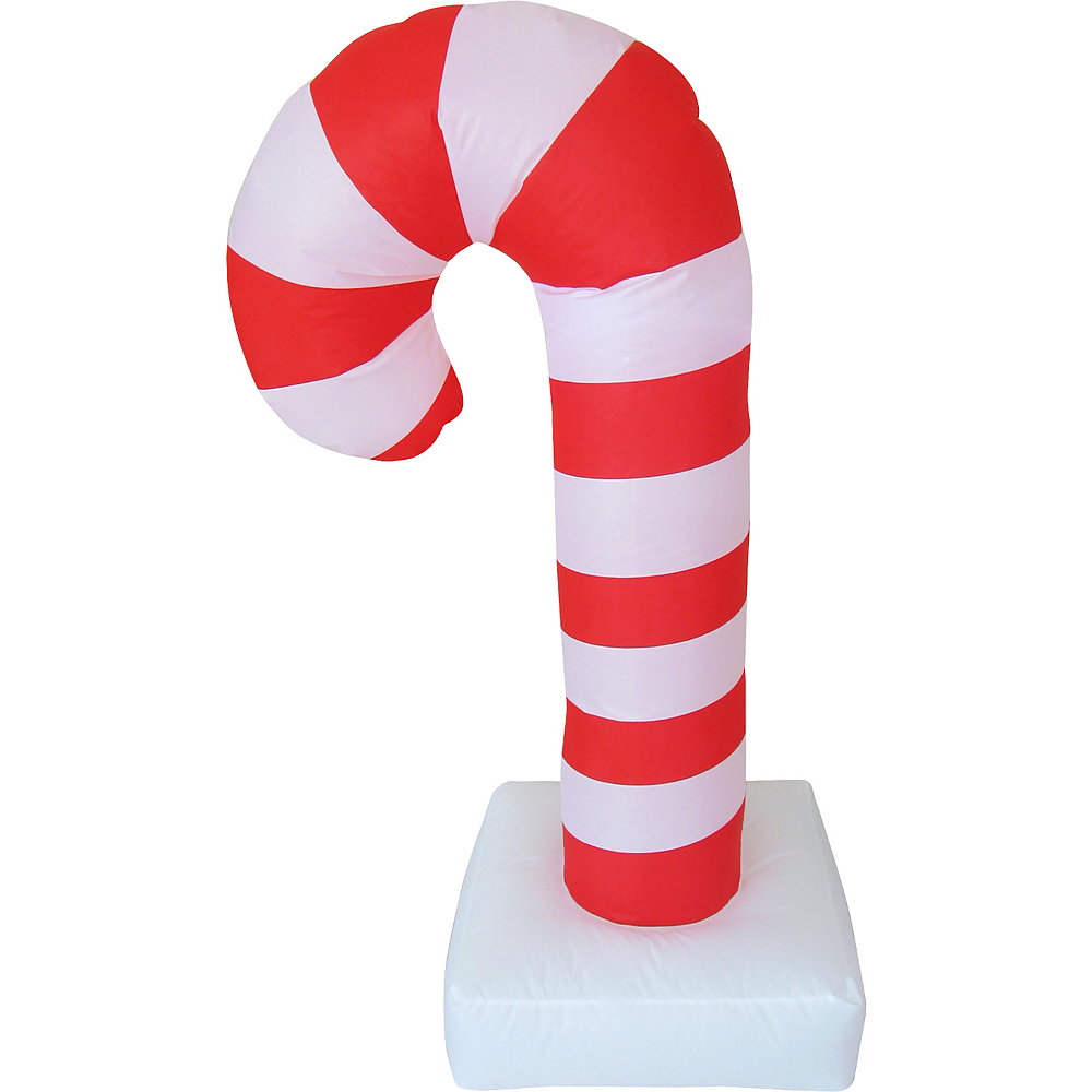 Light Up Inflatable Candy Cane