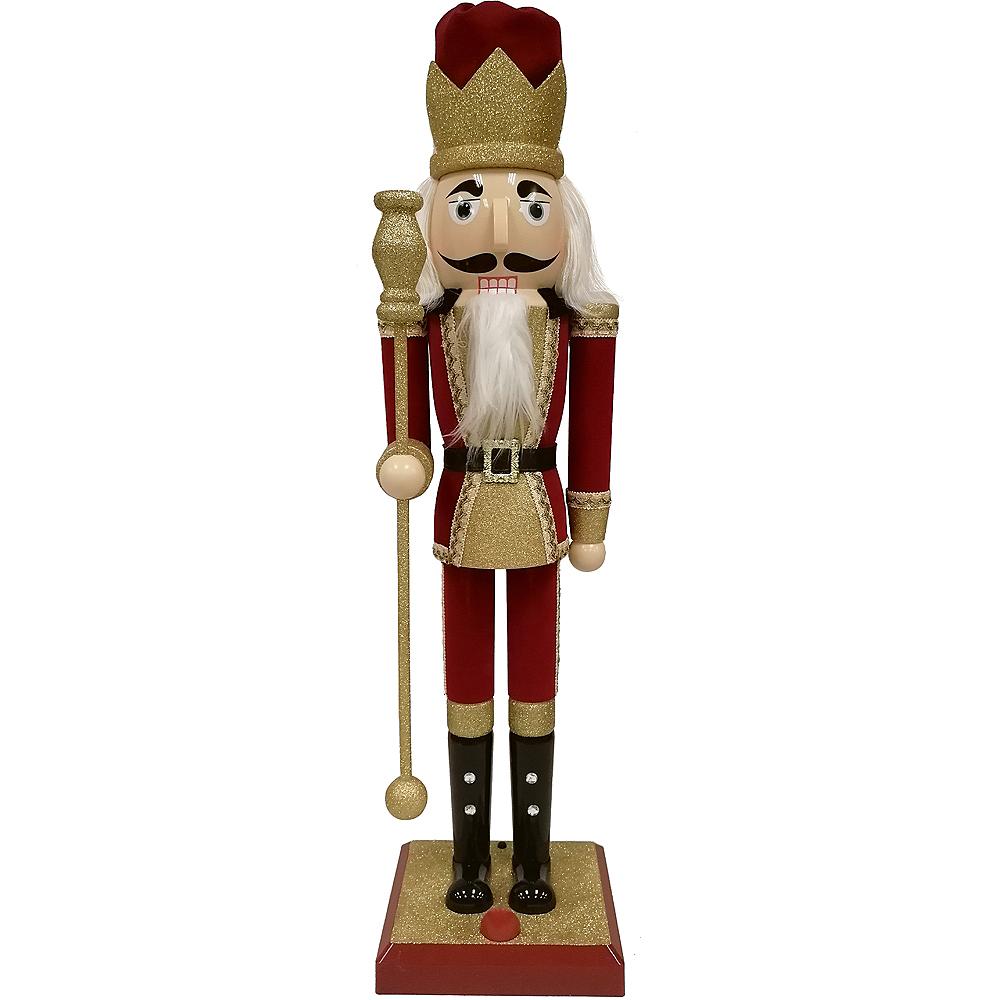 Glitter Gold Nutcracker Statue Image #1