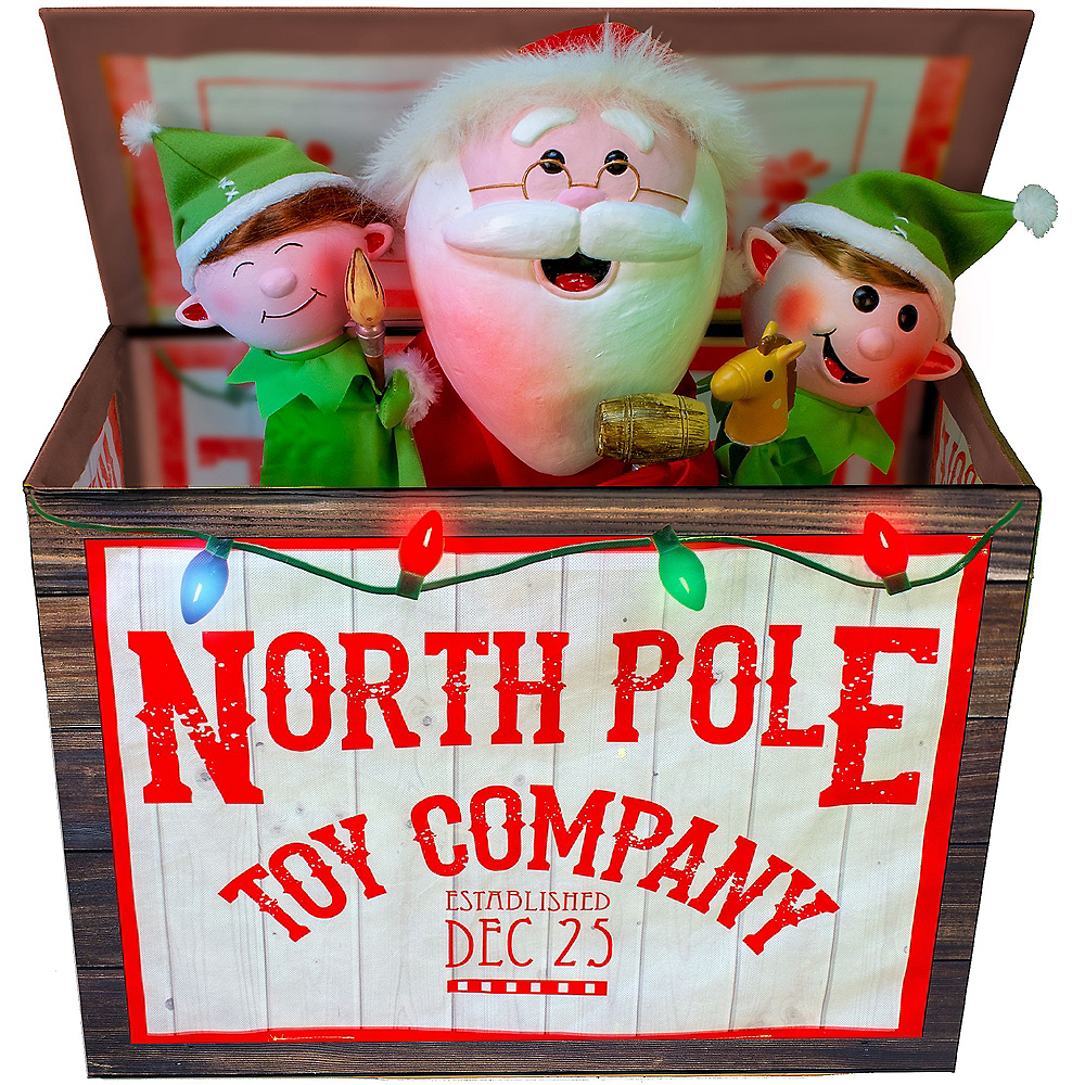 Animated Light-Up Christmas Toy Box Image #2
