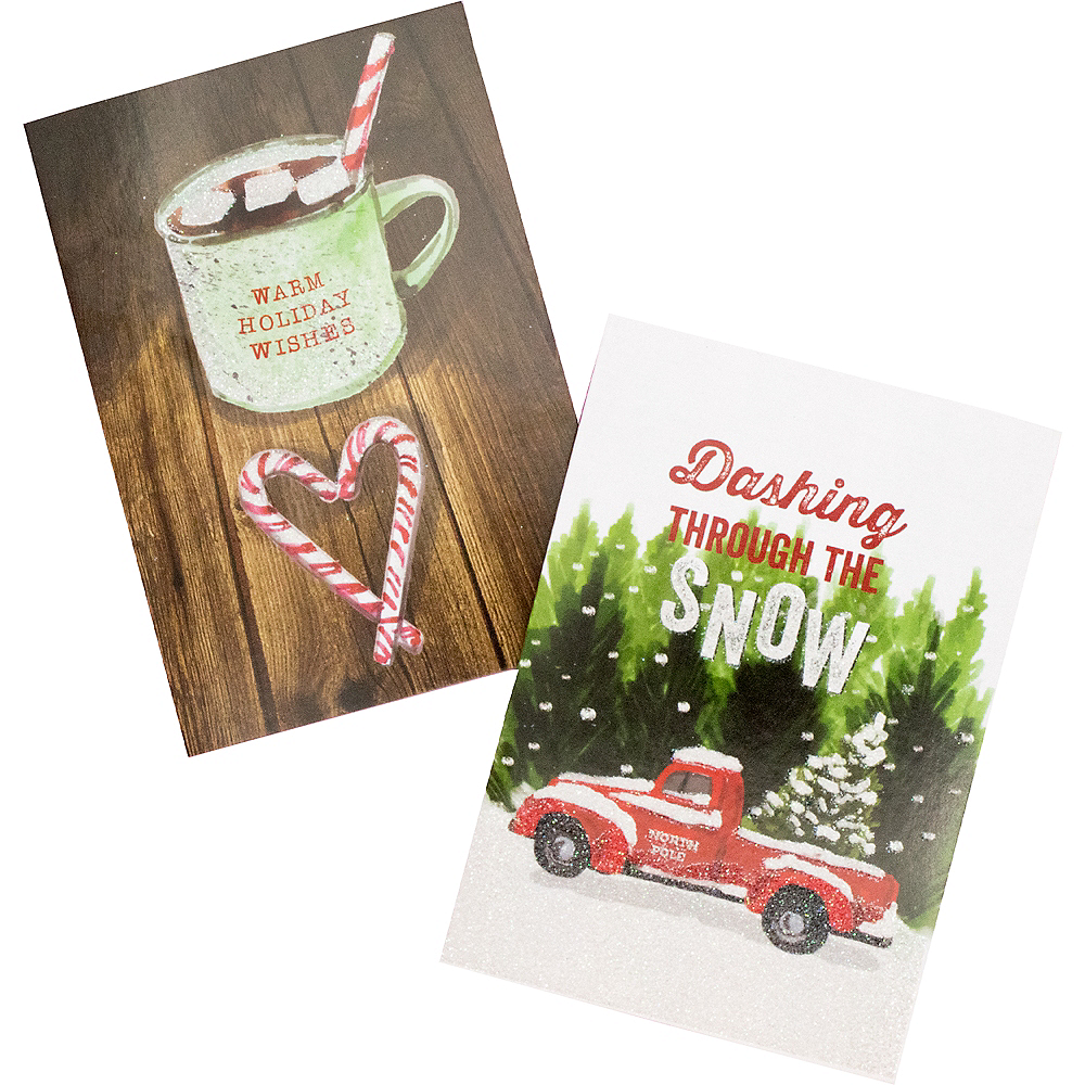 Cocoa & Snow Holiday Cards 16ct Image #1