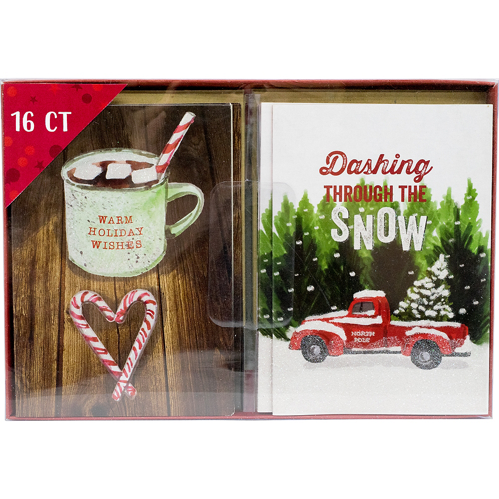 Cocoa & Snow Holiday Cards 16ct Image #2