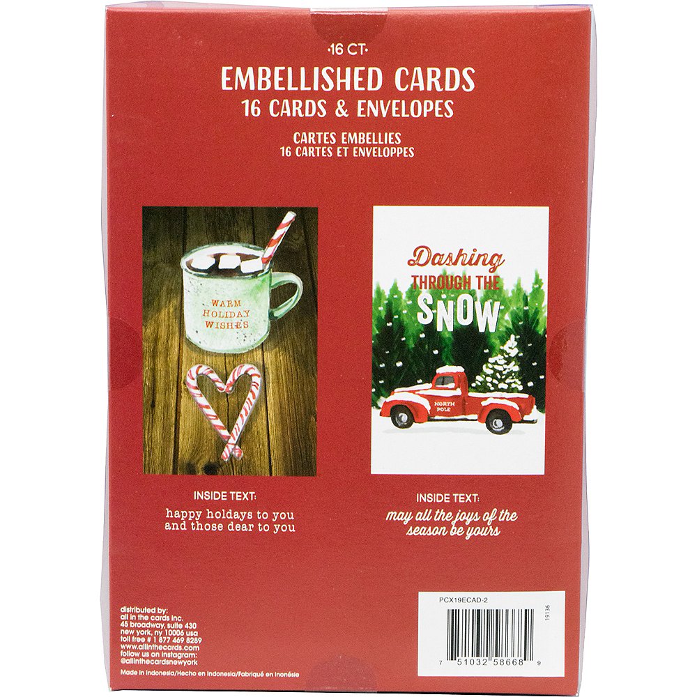 Cocoa & Snow Holiday Cards 16ct Image #3