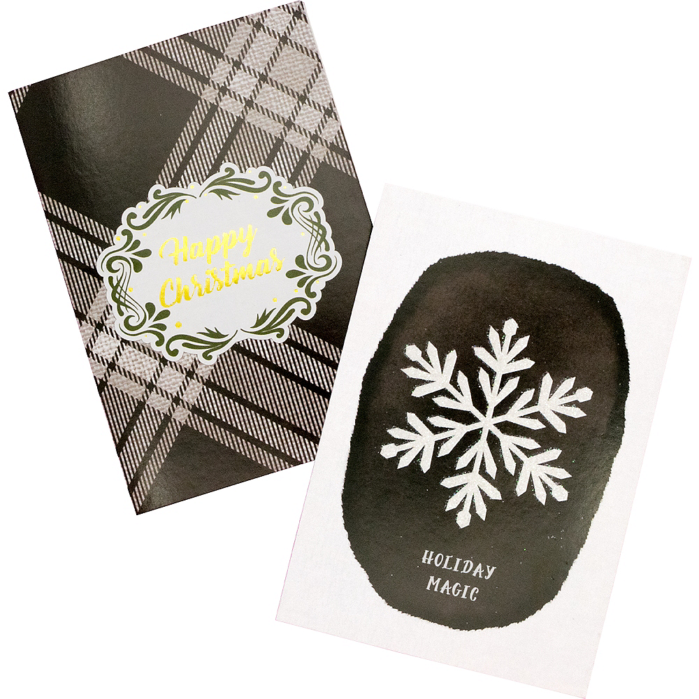 Black & White Holiday Cards 16ct Image #1
