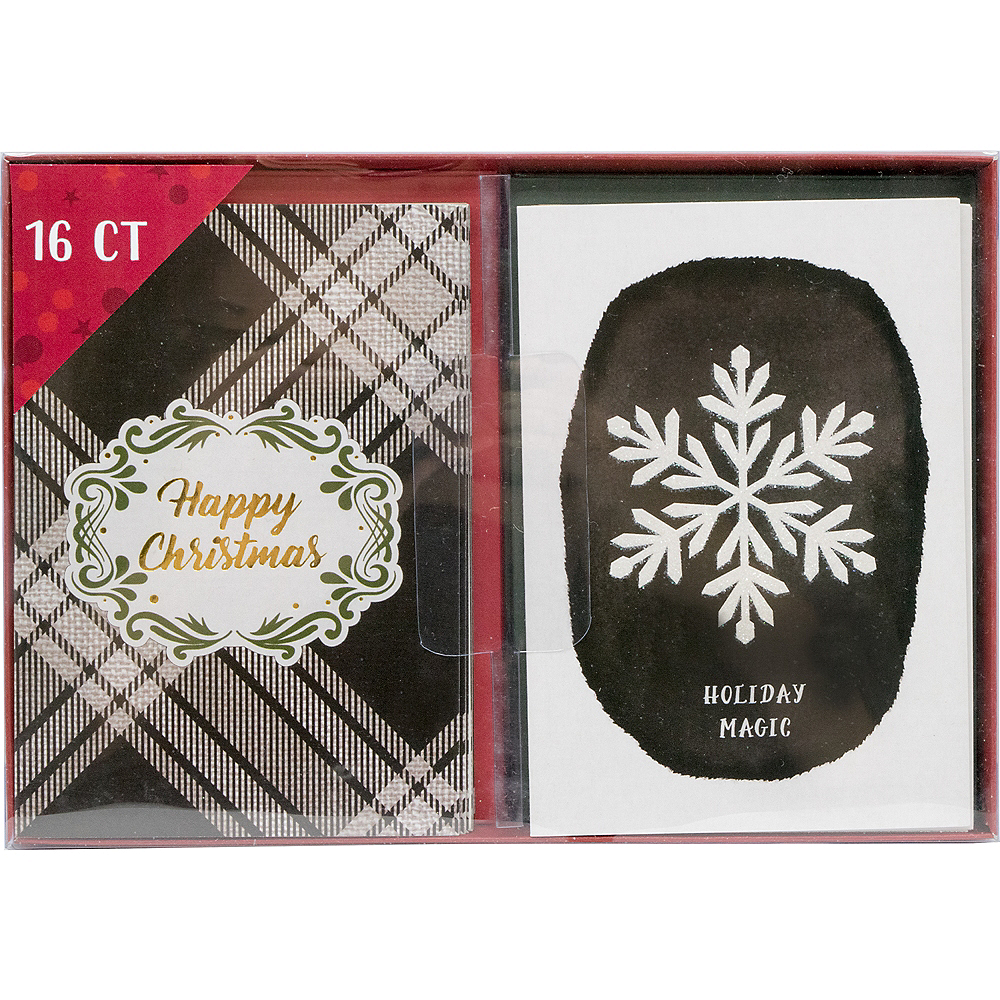 Black & White Holiday Cards 16ct Image #2