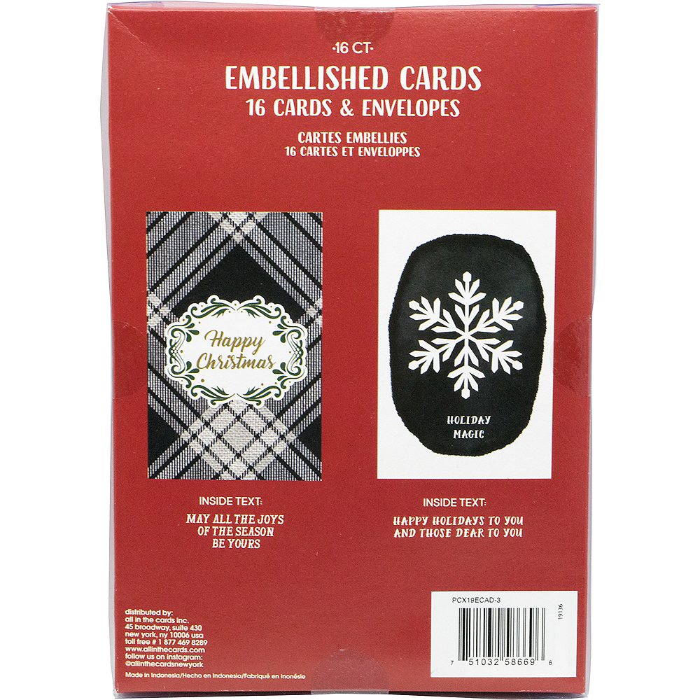 Black & White Holiday Cards 16ct Image #3
