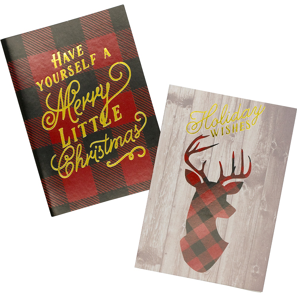 Nav Item for Buffalo Plaid Holiday Cards 16ct Image #1