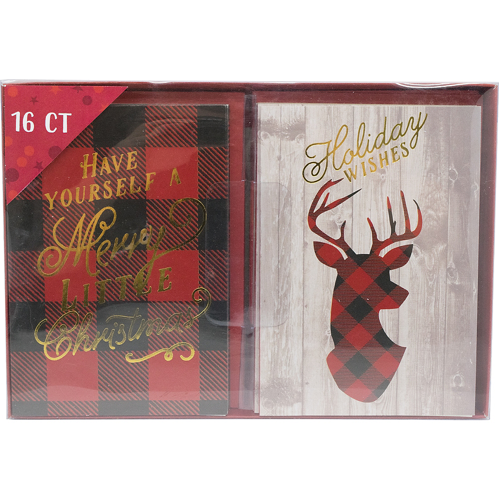 Nav Item for Buffalo Plaid Holiday Cards 16ct Image #2