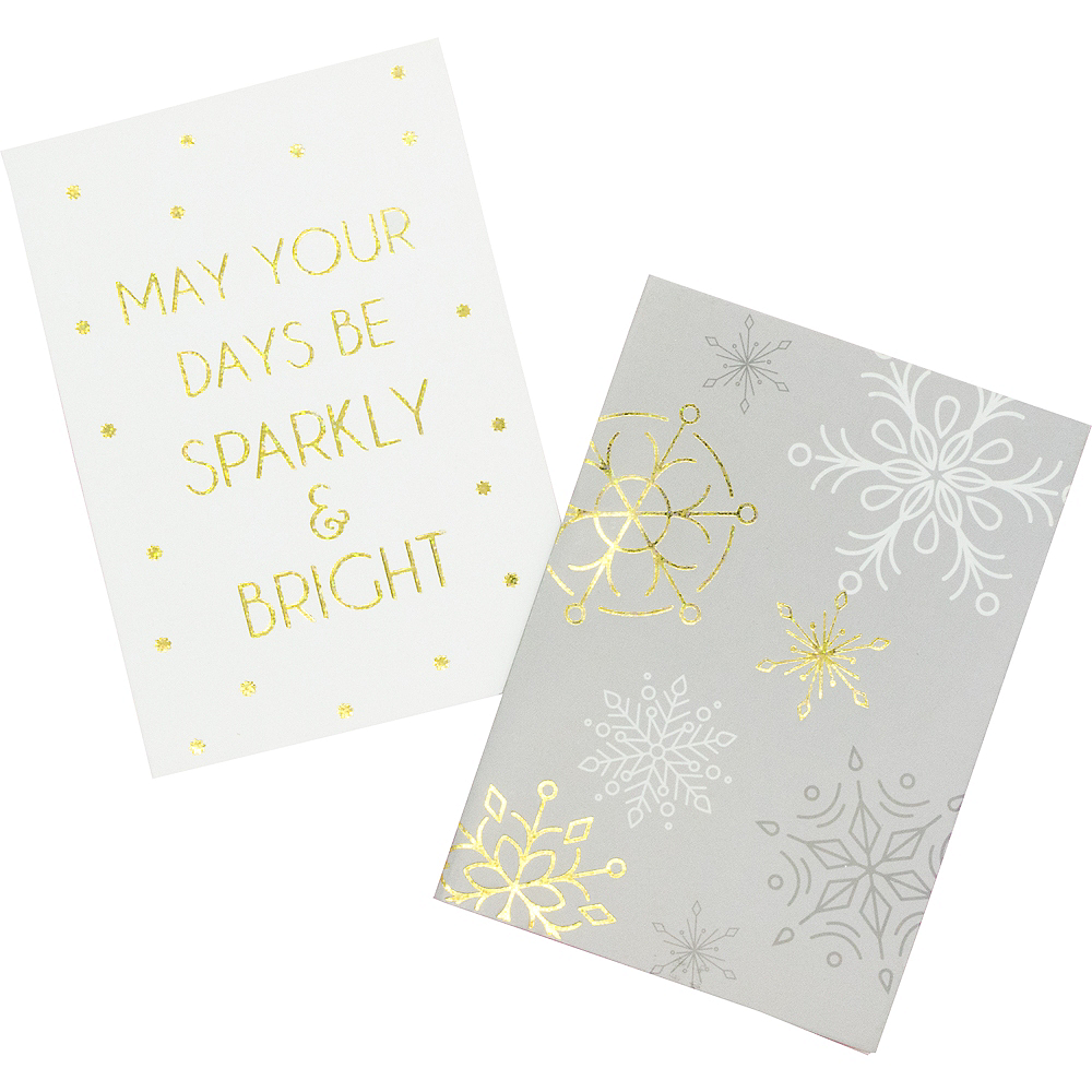 Glitter Snowflakes & Sparkles Holiday Cards 16ct Image #1
