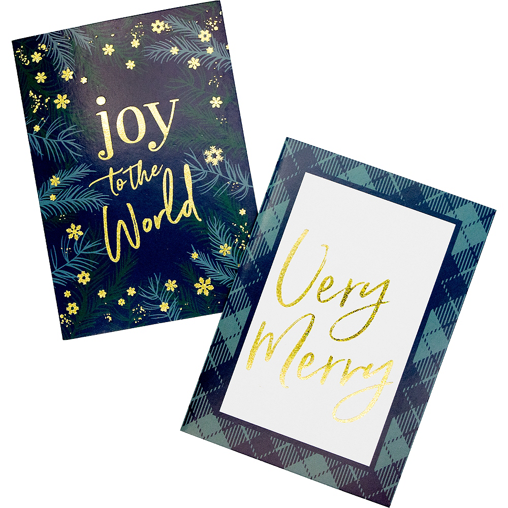 Glitter Joy & Merry Holiday Cards 16ct Image #1