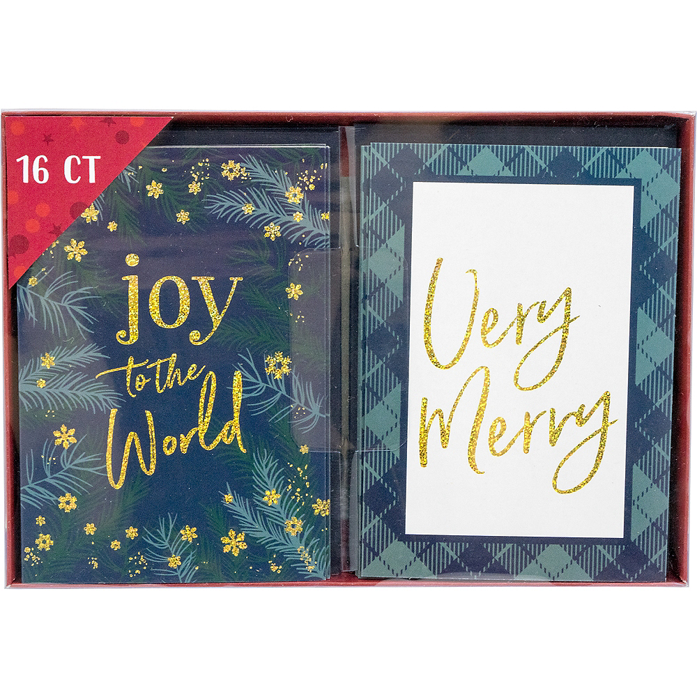 Glitter Joy & Merry Holiday Cards 16ct Image #2