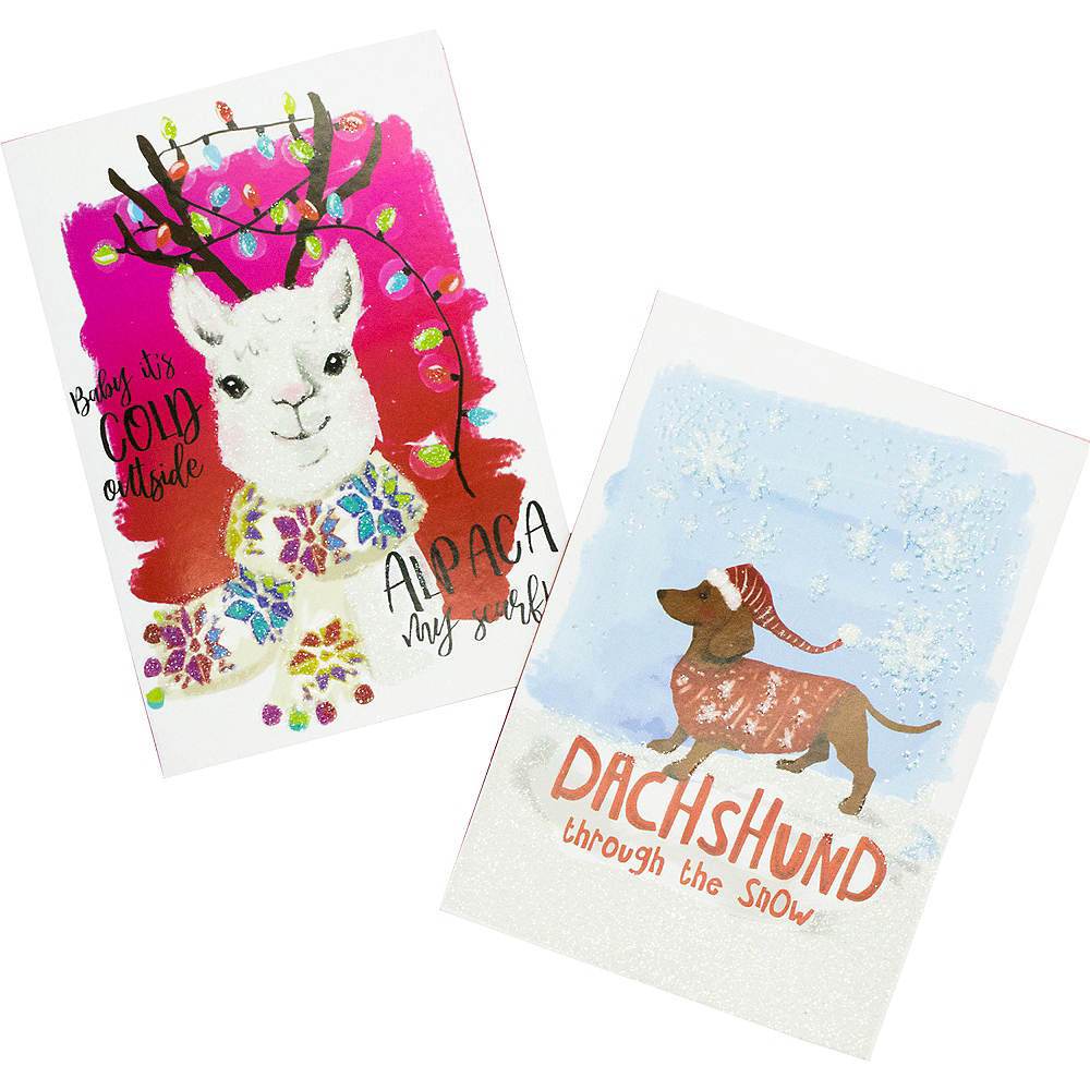 Alpaca & Dachshund Holiday Cards 16ct Image #1