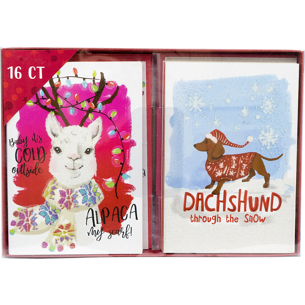 Alpaca & Dachshund Holiday Cards 16ct Image #2