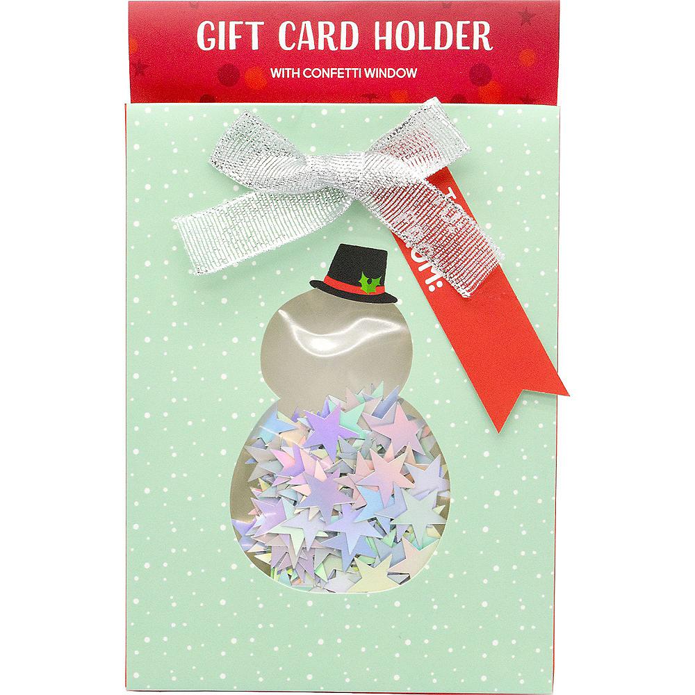 Mint Snowman Gift Card Holder Image #1