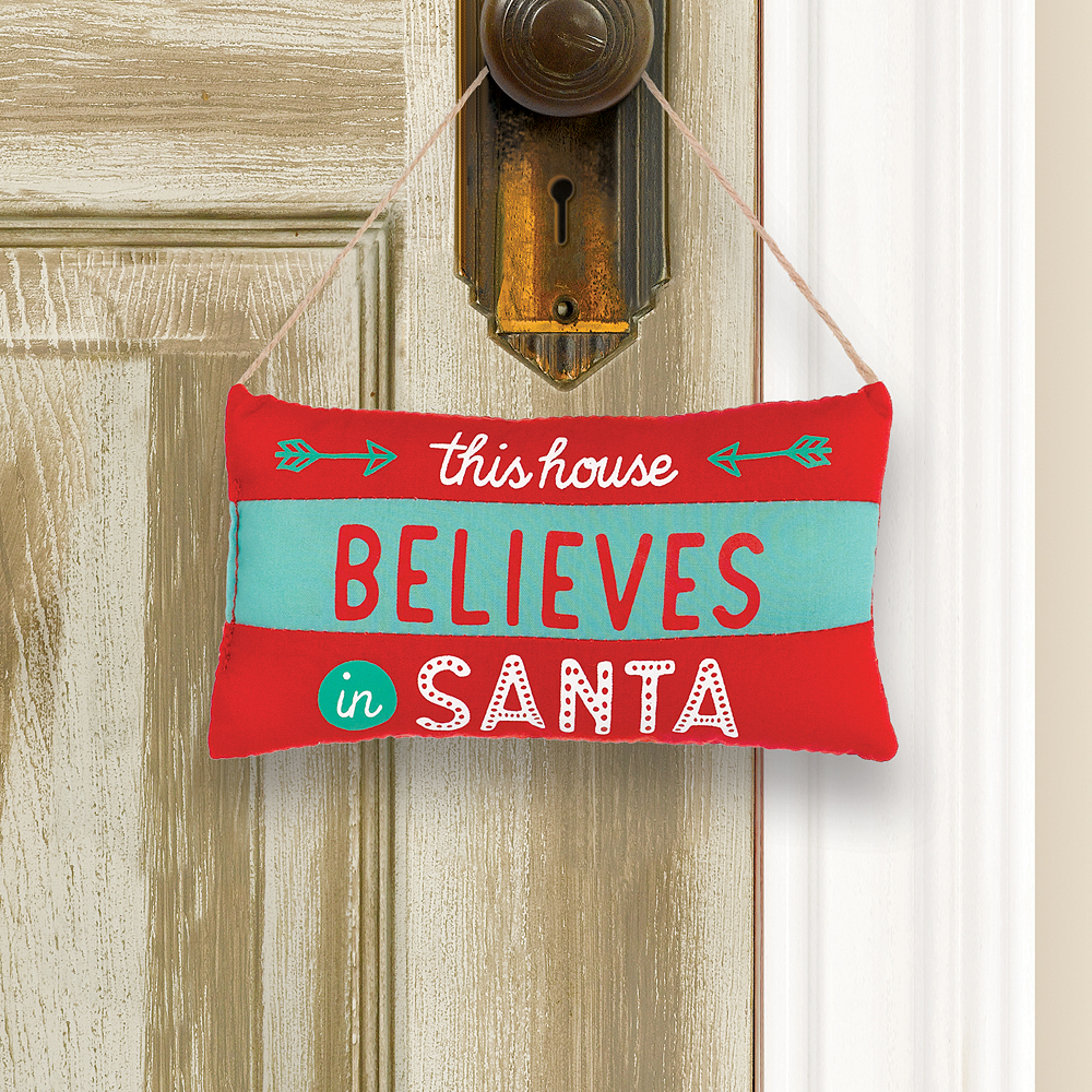 Mini Believe in Santa Pillow Sign Image #1