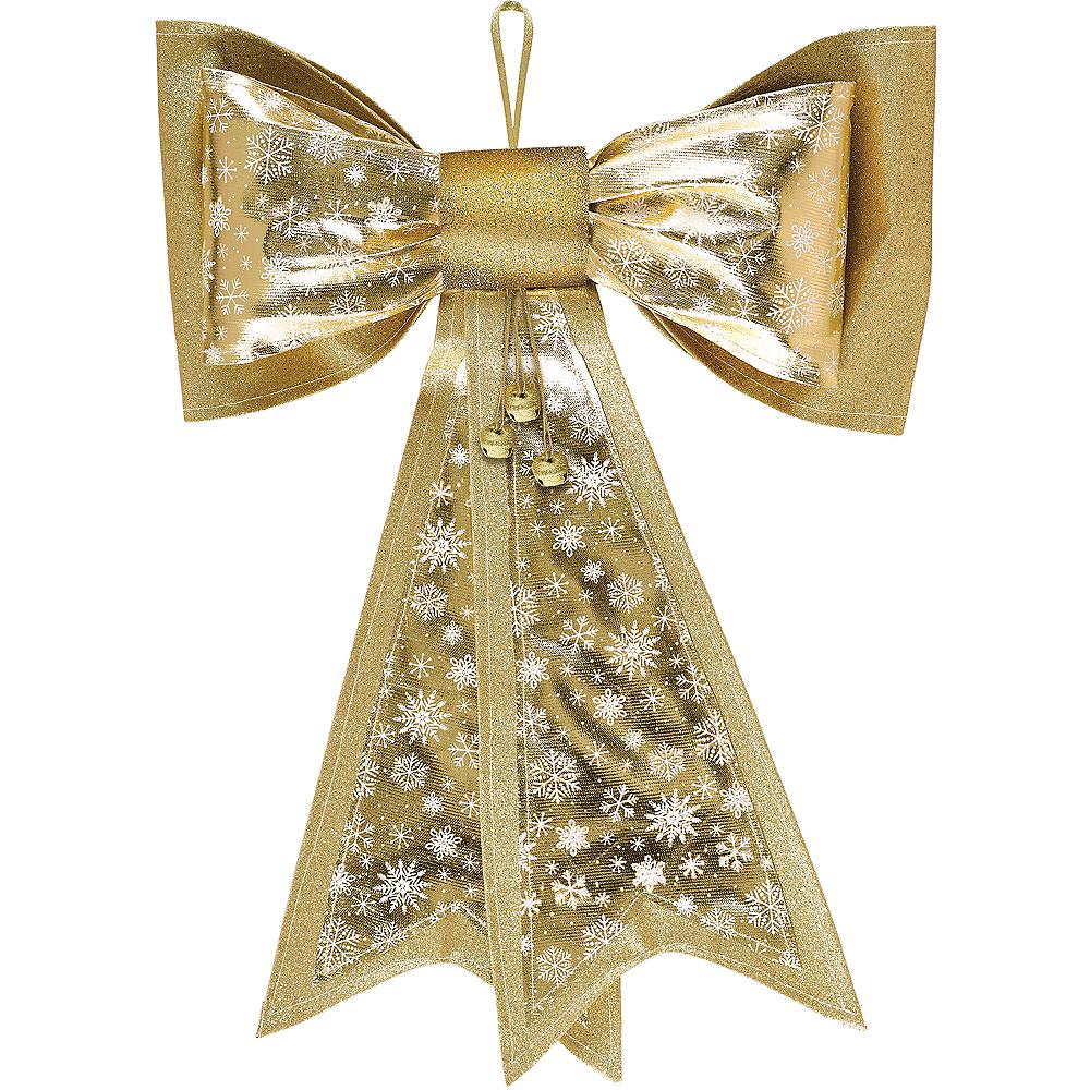 Metallic Gold Snowflake Bow Image #1