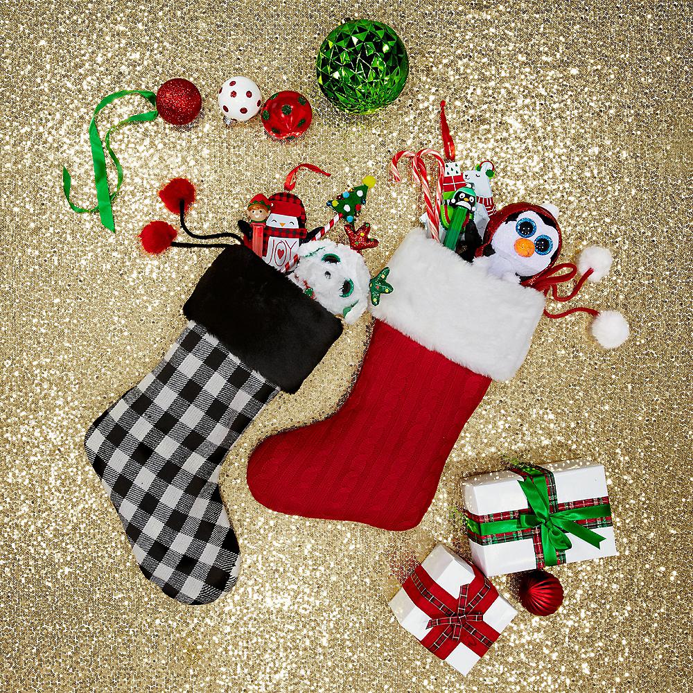Buffalo Plaid Christmas Stocking Image #2