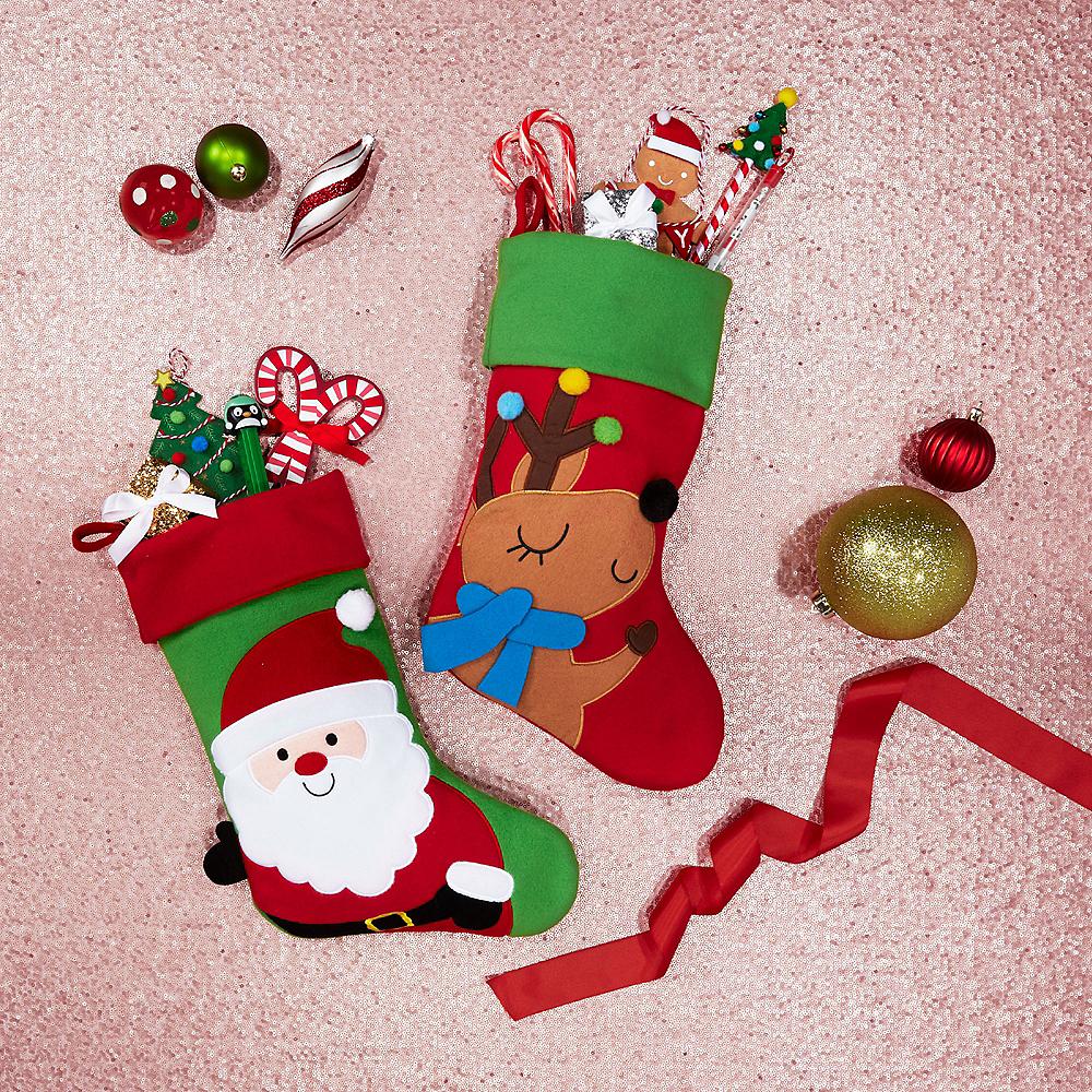 Reindeer Christmas Stocking Image #2