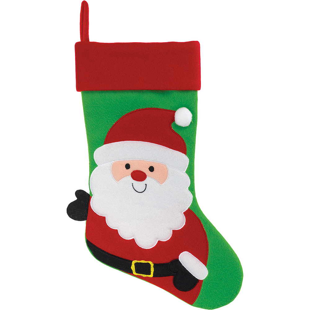 Santa Claus Christmas Stocking 18in | Party City