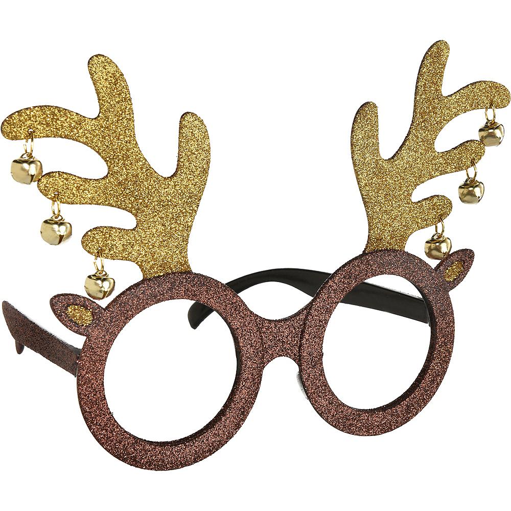 Glitter Reindeer Glasses Image #1