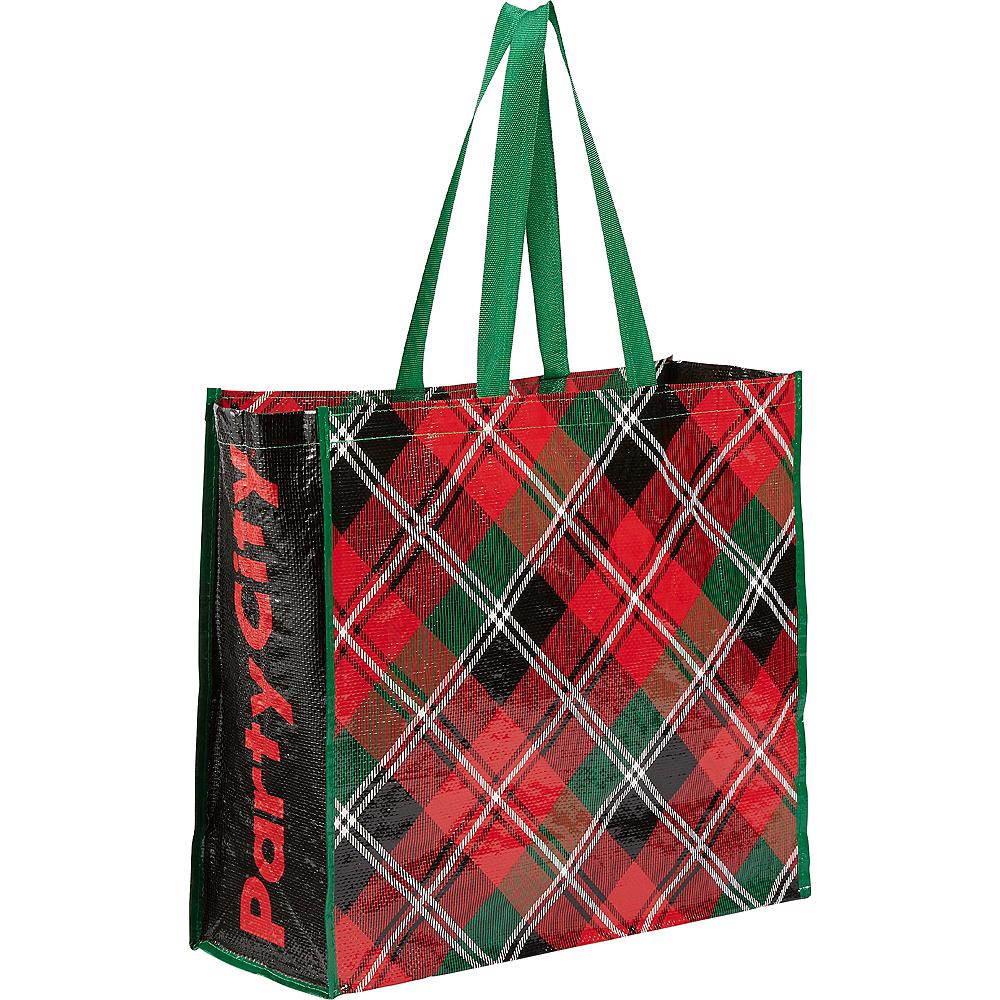 Christmas Plaid Tote Bag Image #1