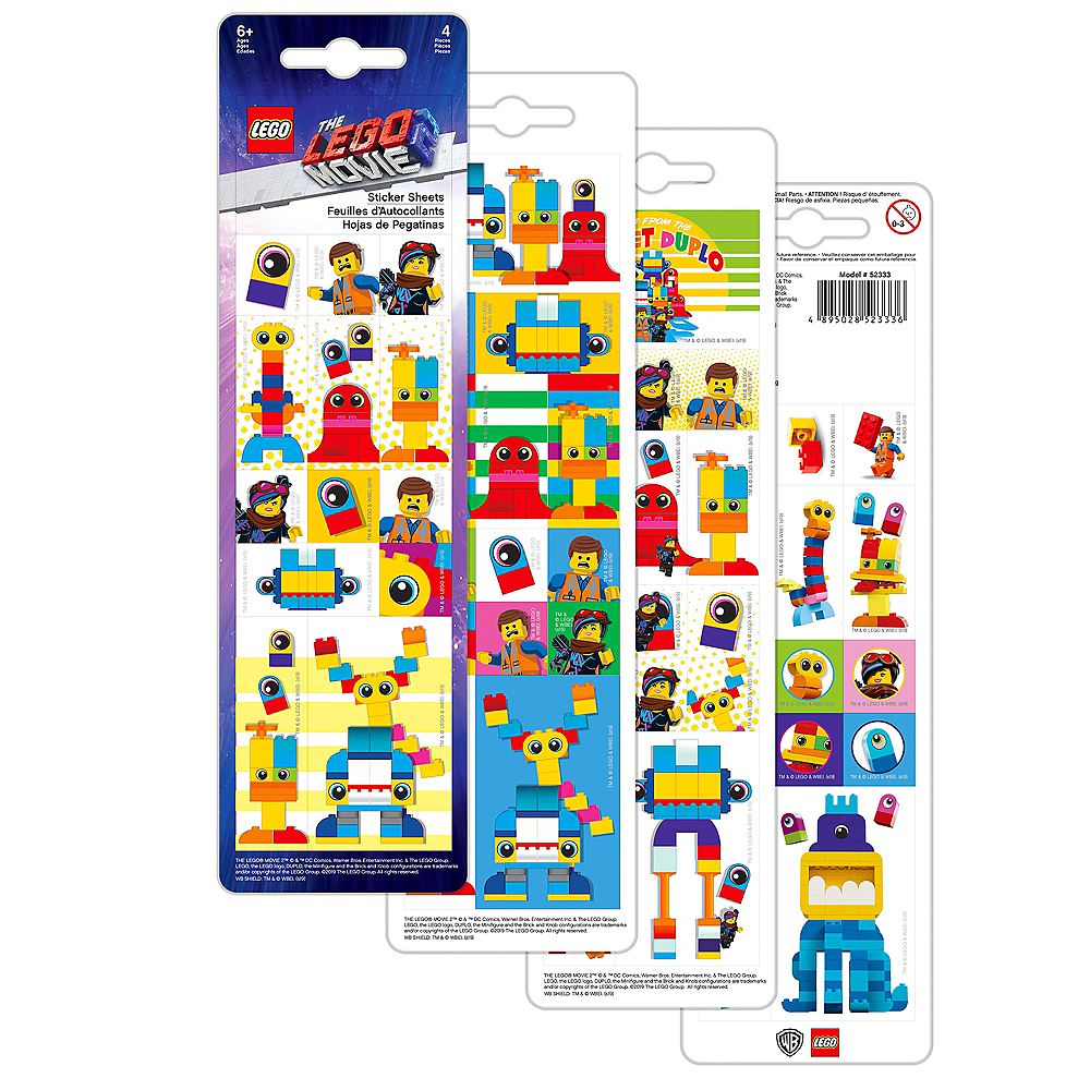 Lego Movie 2: The Second Part Block Stickers 4 Sheets Image #1