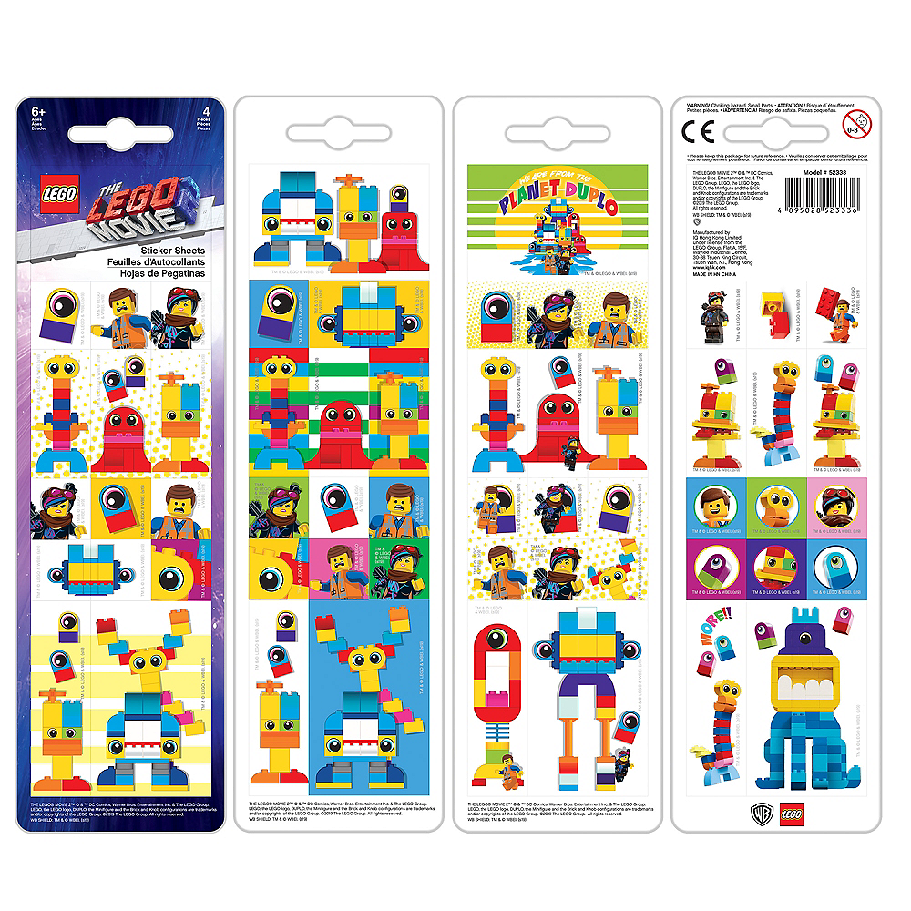 Lego Movie 2: The Second Part Block Stickers 4 Sheets Image #2