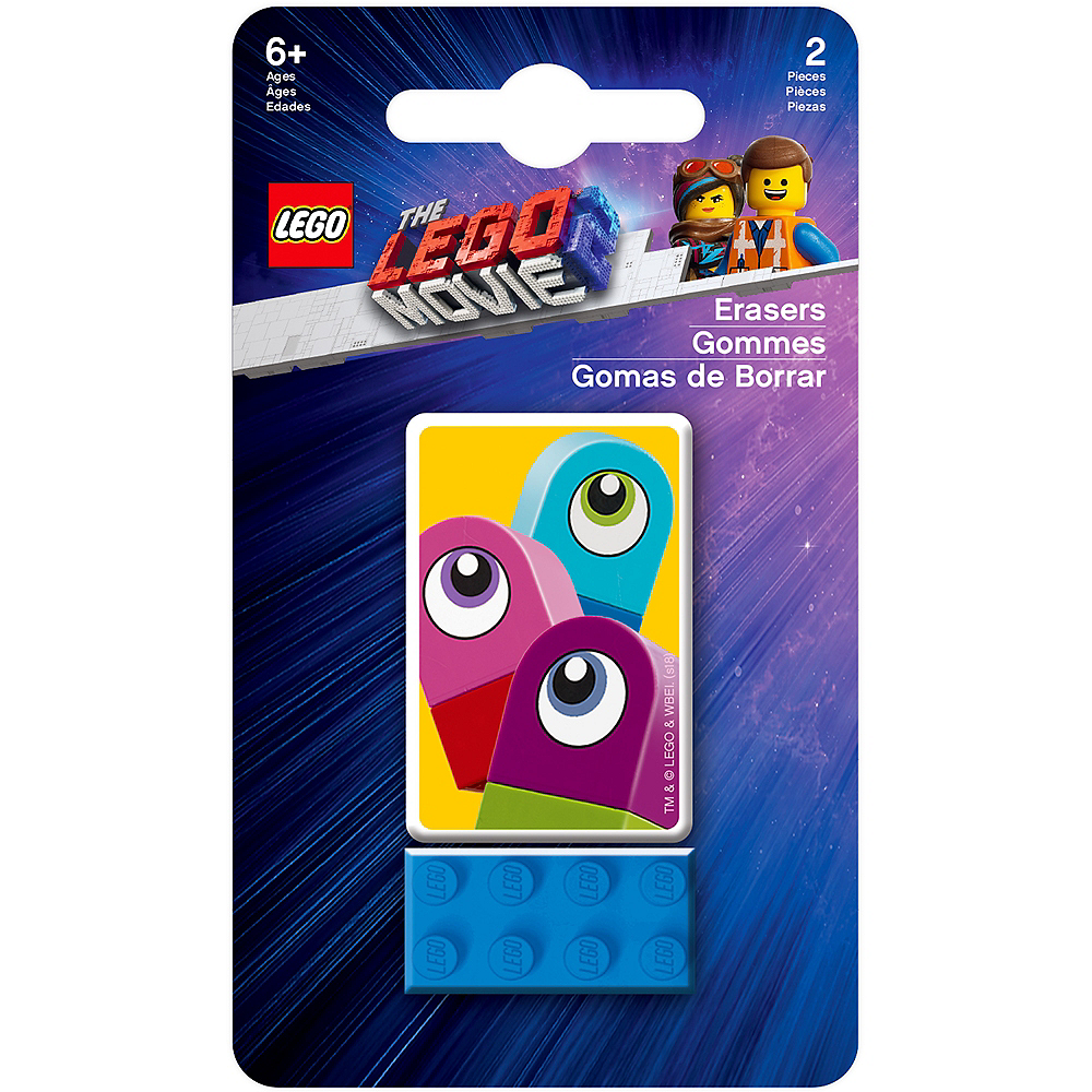Lego Movie 2: The Second Part DUPLO Invaders Erasers 2pc Image #2