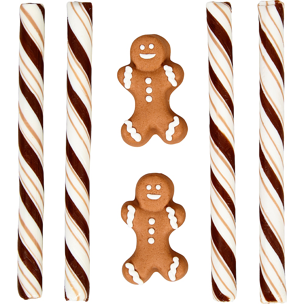 Gingerbread Boy Cocoa Trimming Kit 6ct Image #1