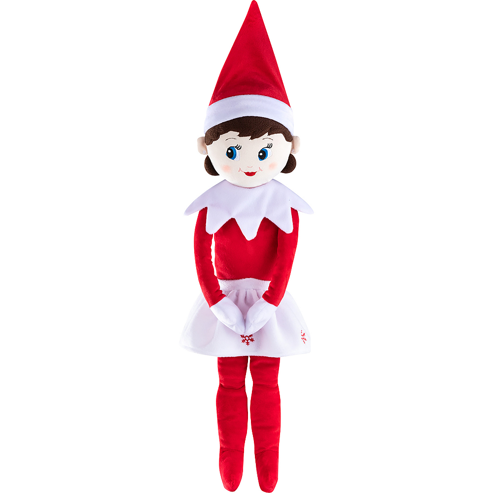 Blue-Eyed Girl Scout Elf Plushee Pals® Huggable - The Elf on the Shelf® Image #1