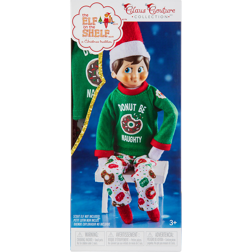 Claus Couture Donut Be Naughty PJs - The Elf on the Shelf Image #3
