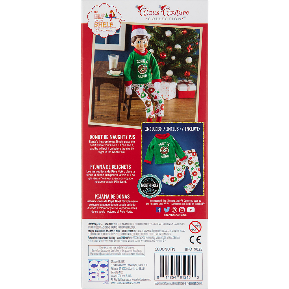 Claus Couture Donut Be Naughty PJs - The Elf on the Shelf Image #4