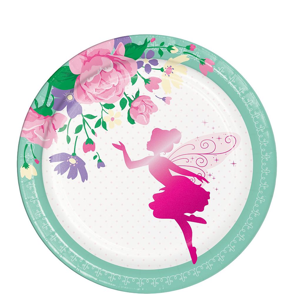 Floral Fairy Dessert Plates 8ct Image #1
