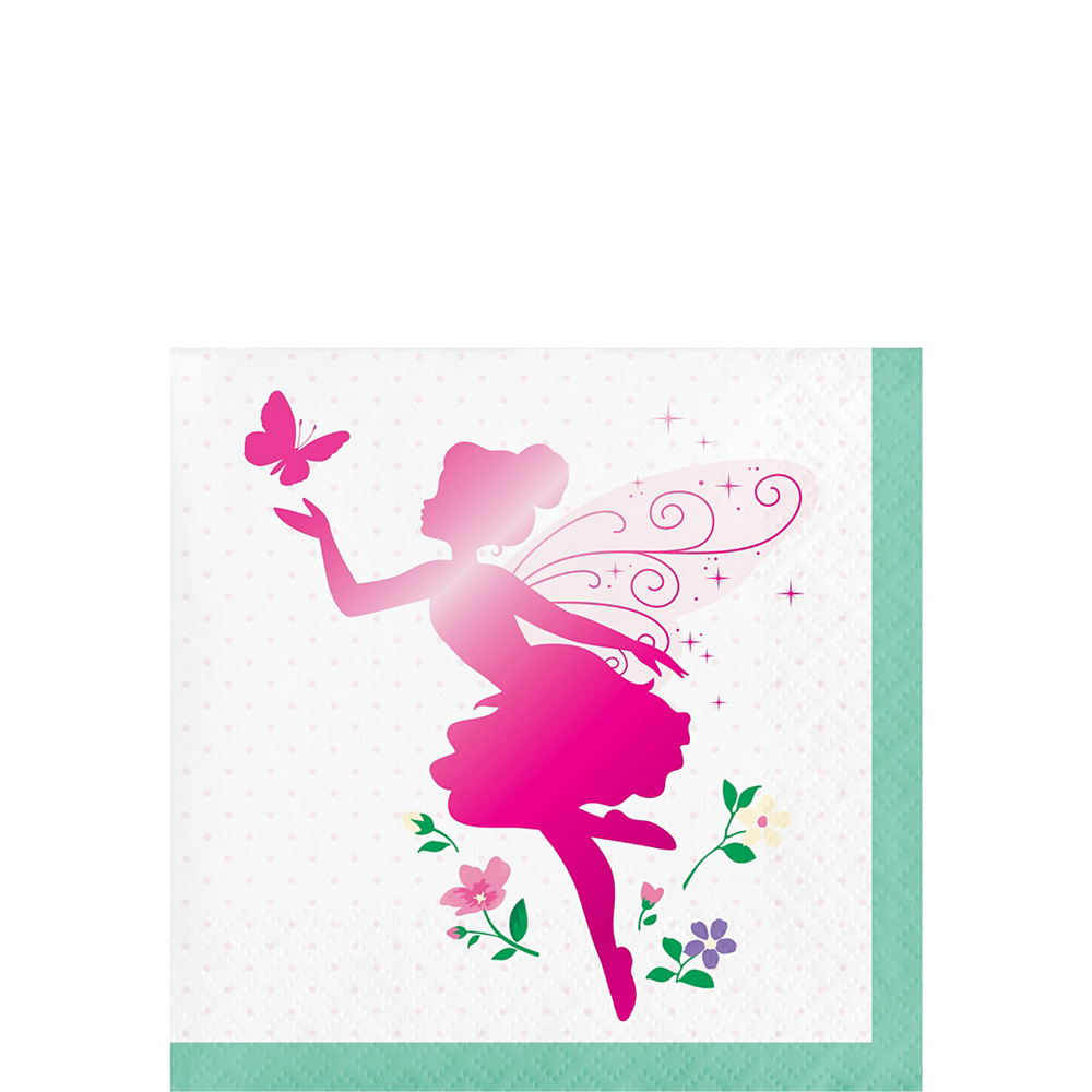 Floral Fairy Beverage Napkins 16ct Image #1