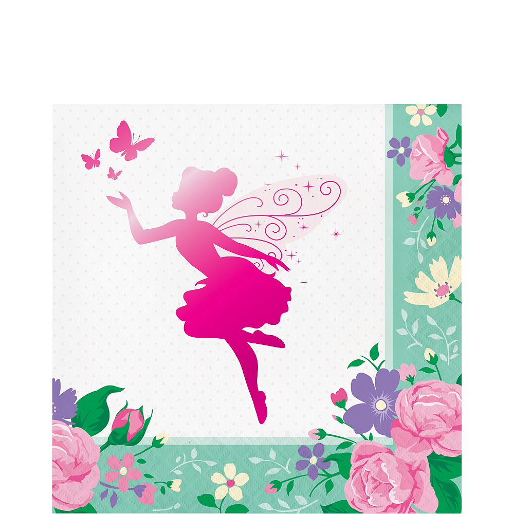 Floral Fairy Lunch Napkins 16ct Image #1