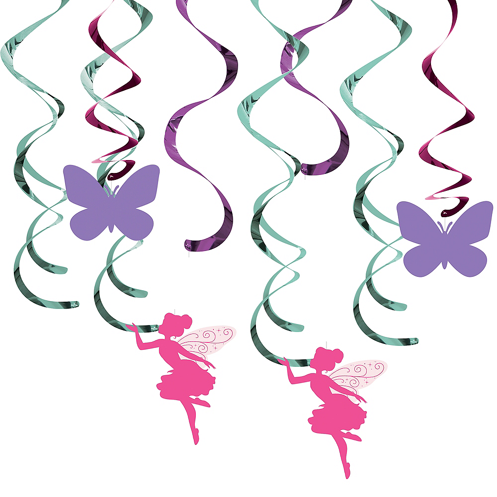 Floral Fairy Swirl Decorations 8ct Image #1