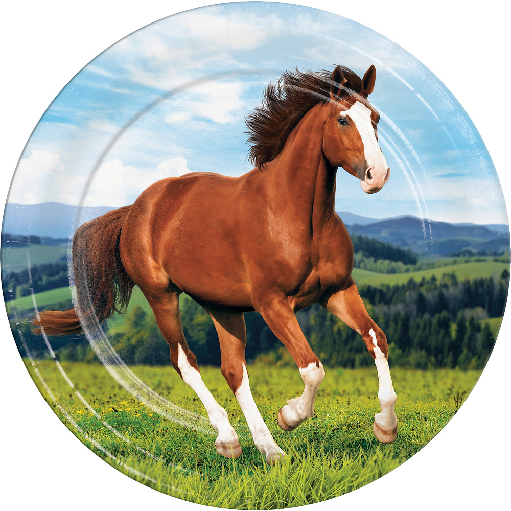 Wild Horse Lunch Plates 8ct Image #1