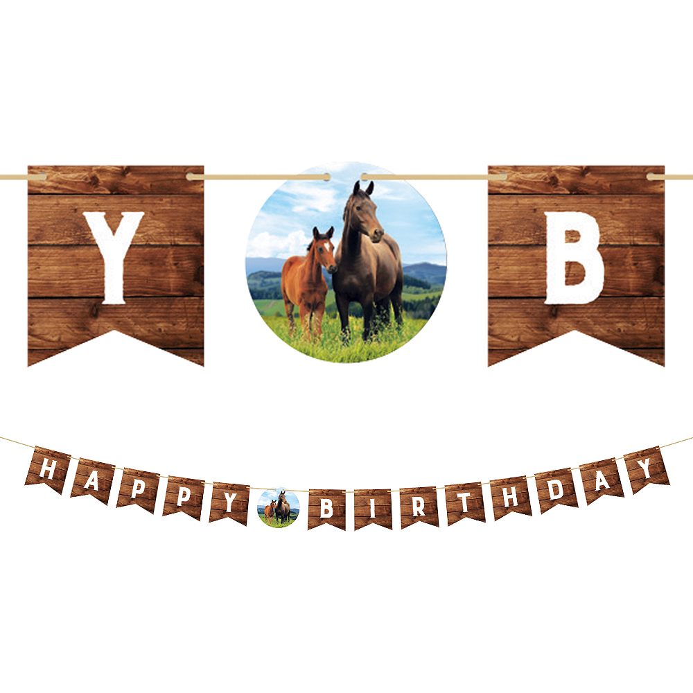 Wild Horse Birthday Pennant Banner Image #1