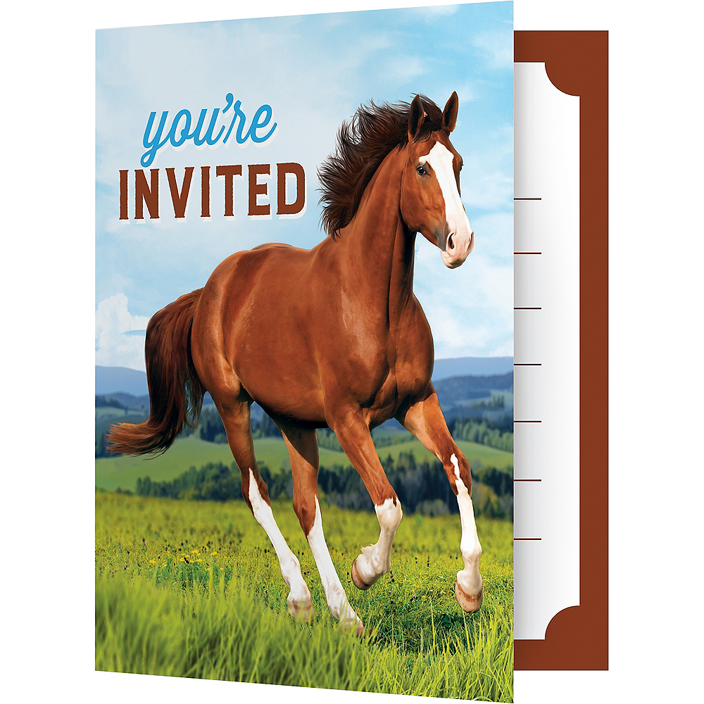 Wild Horse Invitations 8ct Party City