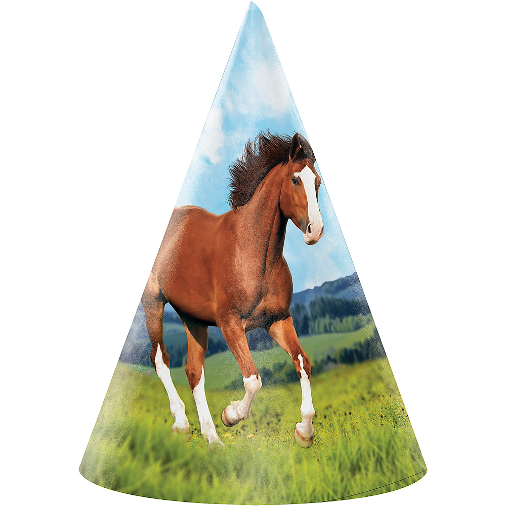 Wild Horse Party Hats 8ct Image #1