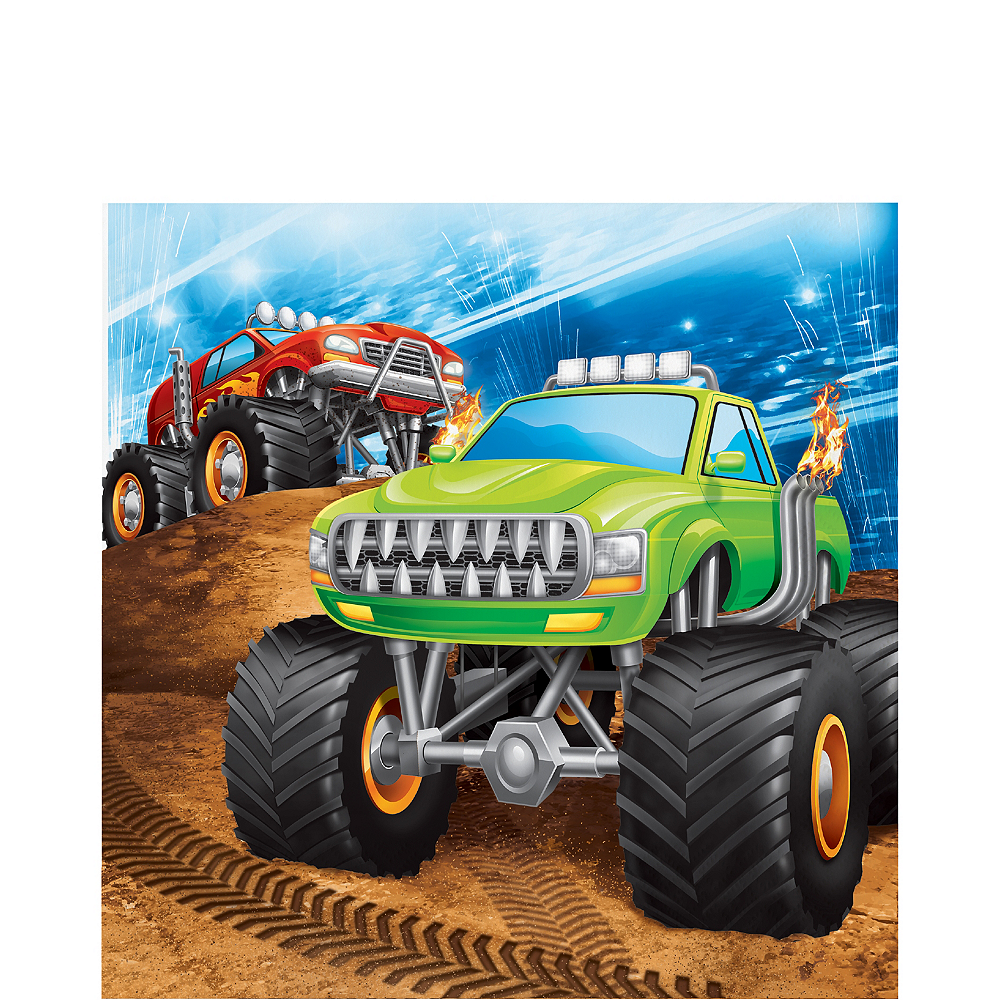 Monster Truck Lunch Napkins 16ct Image #1