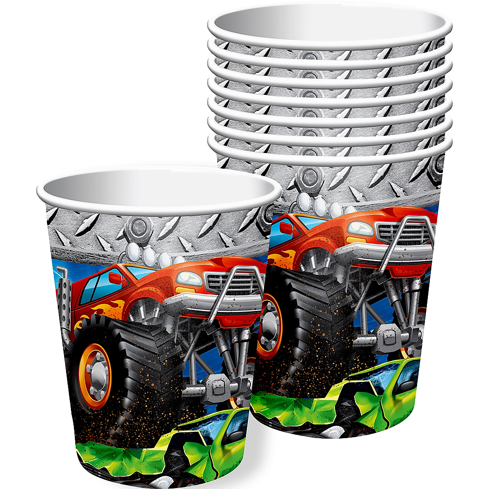 Monster Truck Cups 8ct Image #1