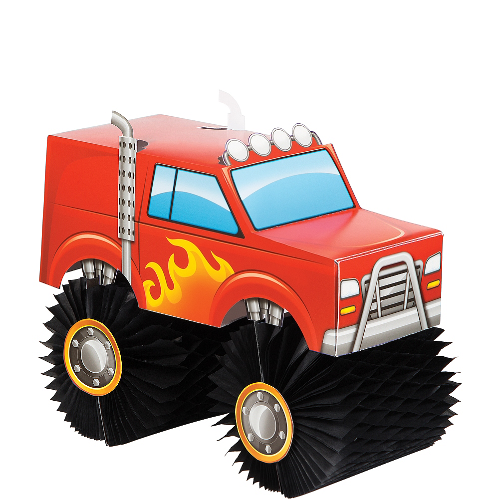 Monster Truck Honeycomb Centerpiece Image #1